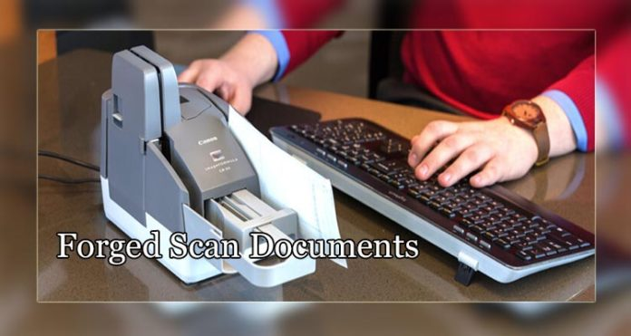 Forged Scan Documents