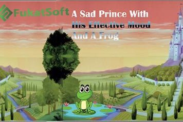 A Sad Prince With His Effective Mood And A Frog