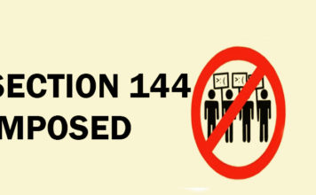 section 144 imposed