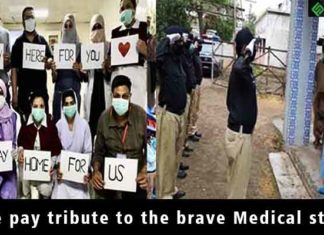 tribute to medical staff